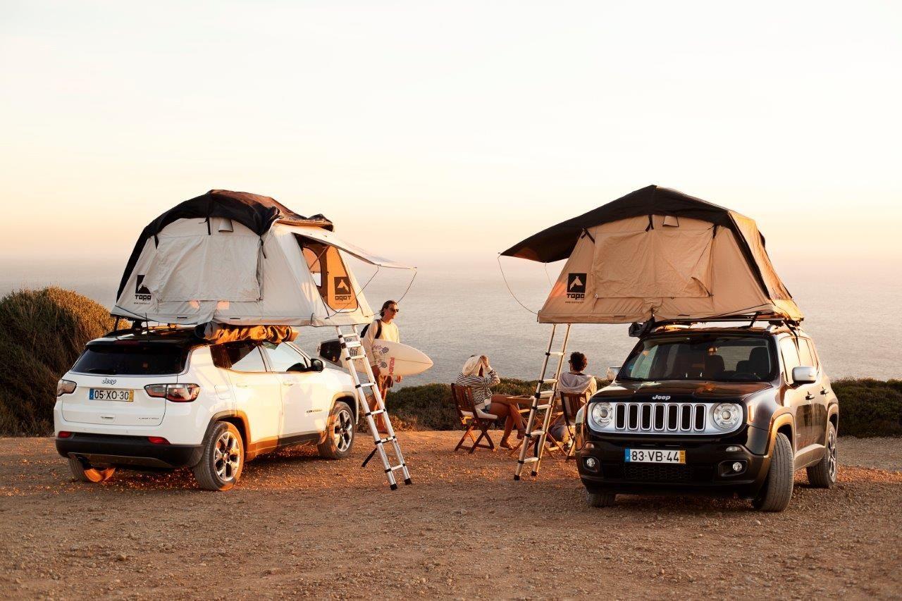 Jeep E Hertz Lancam Servico Inovador Com Aluguer De Tendas Rooftop
