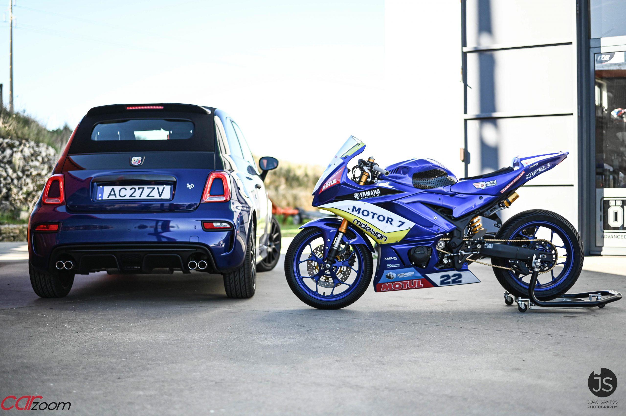 Ensaiámos o Abarth 595 Yamaha com a ajuda da Madalena Simões piloto da Yamaha Motor 7! 25