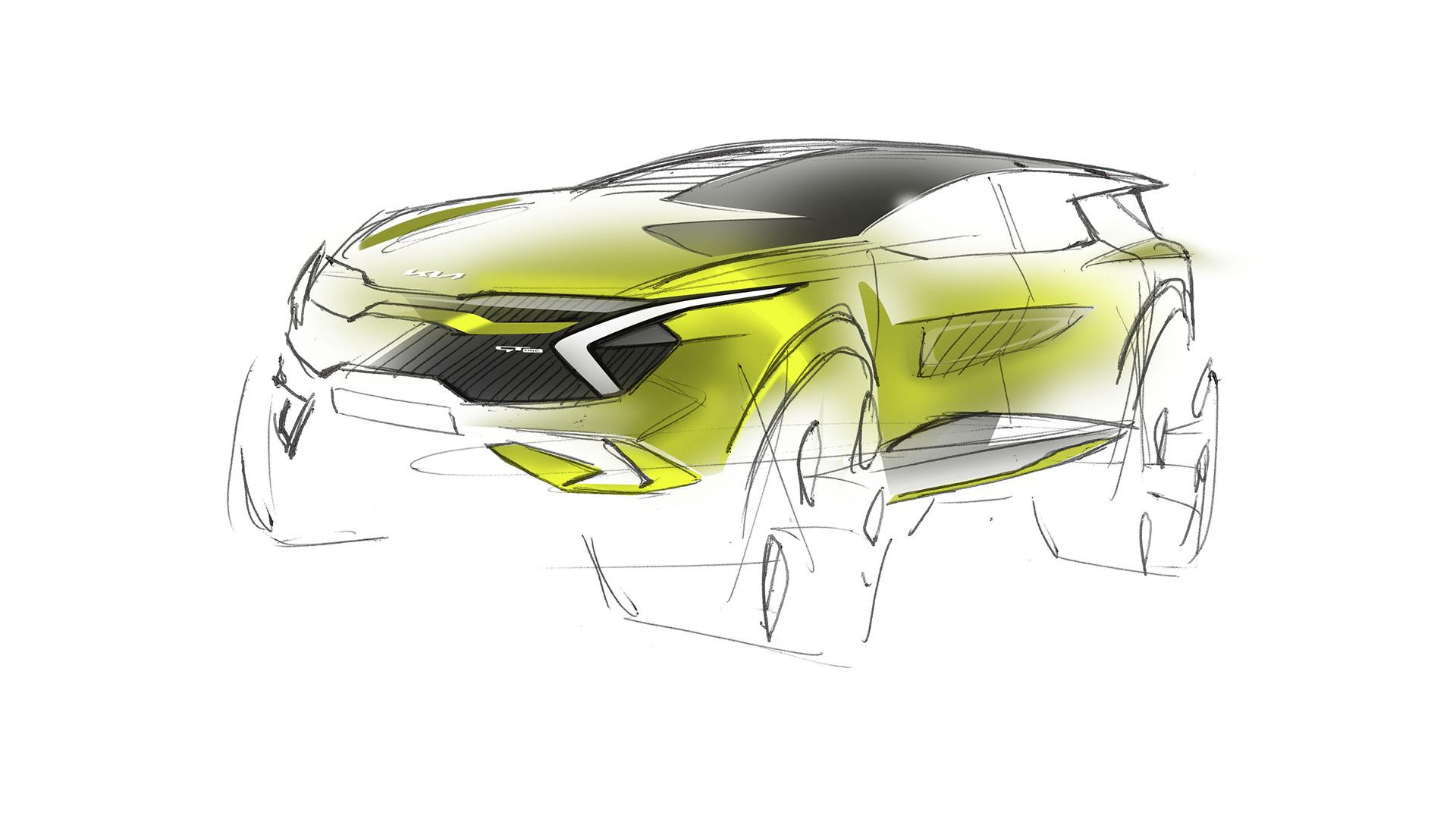 Kia revela primeiros esboços da versão europeia do novo Sportage 17