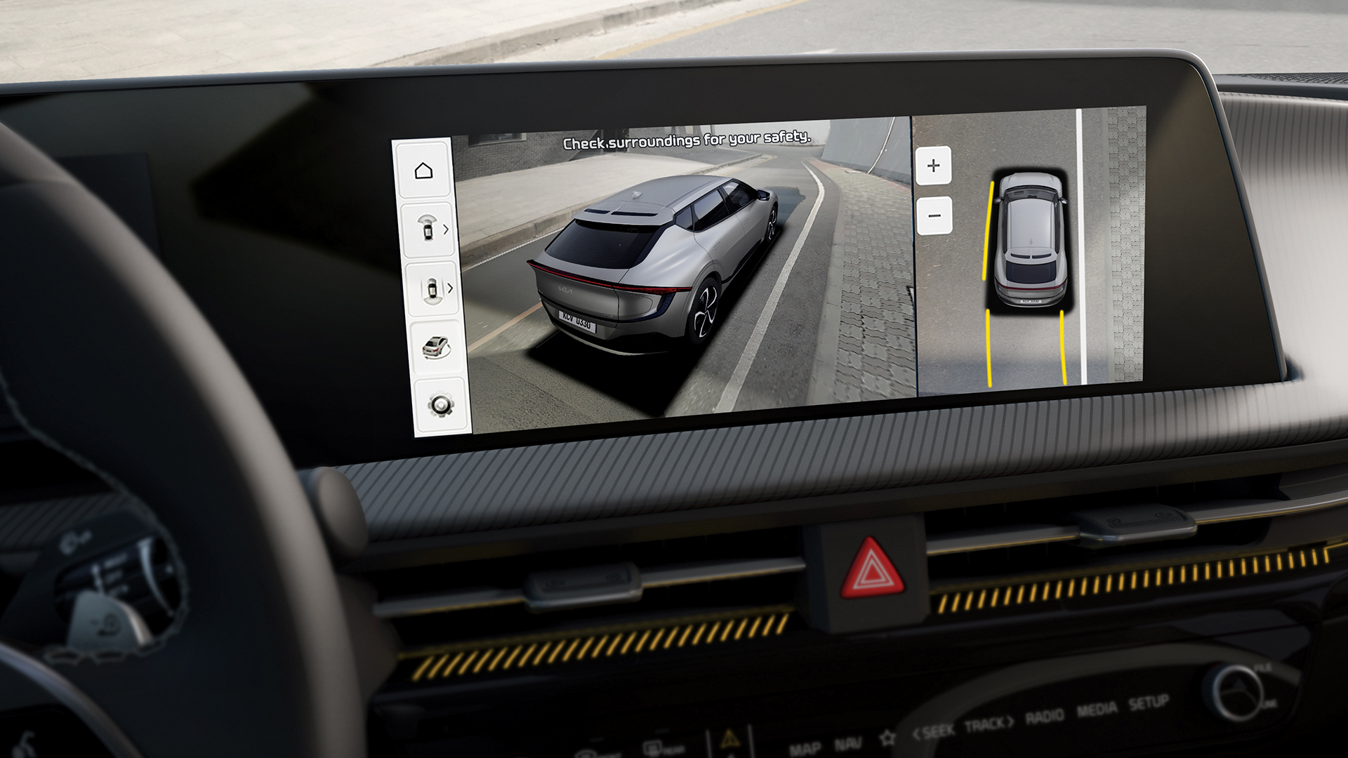 Novo Kia EV6 oferece níveis de segurança e comodidade de vanguarda 16