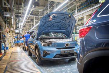 Novo Volvo C40 Recharge Início da produção na fábrica de Ghent, na Bélgica 16